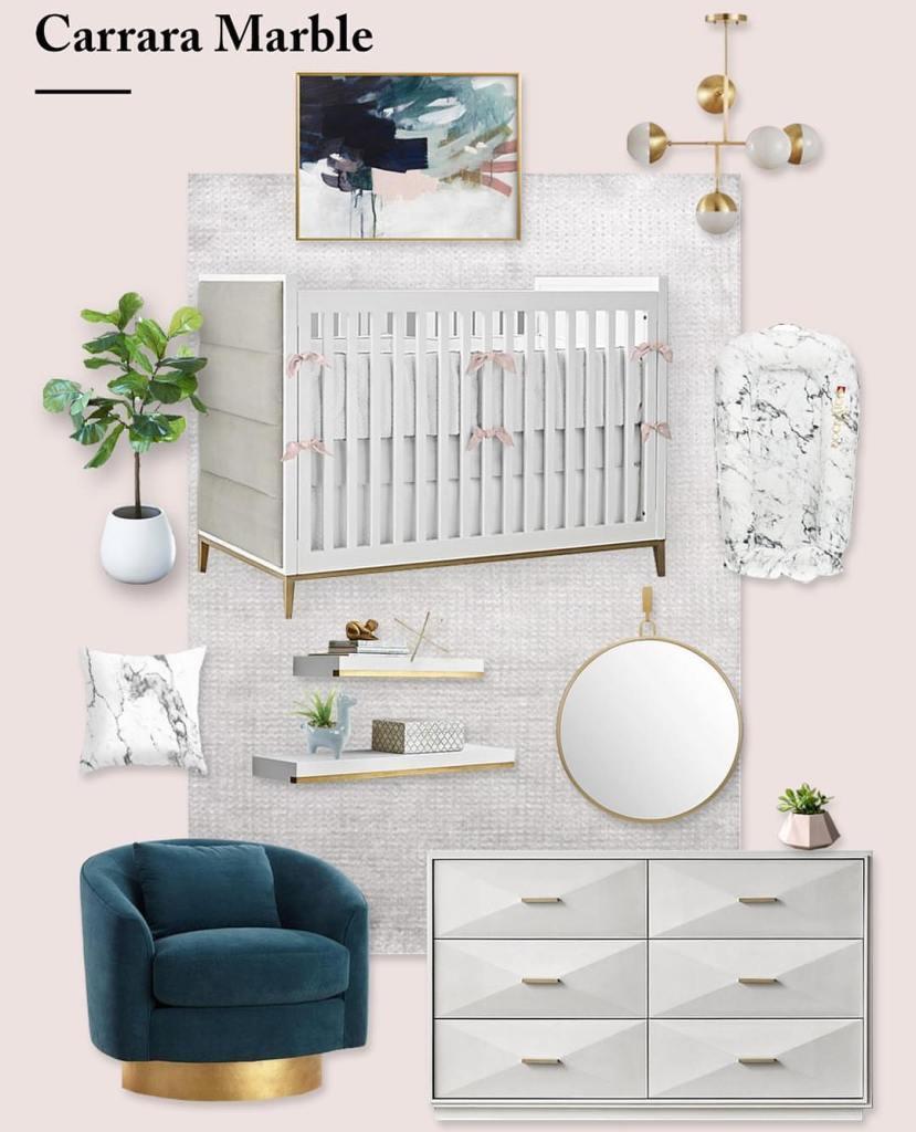 Nursery Trends of 2019: Marble Nursery Decor
