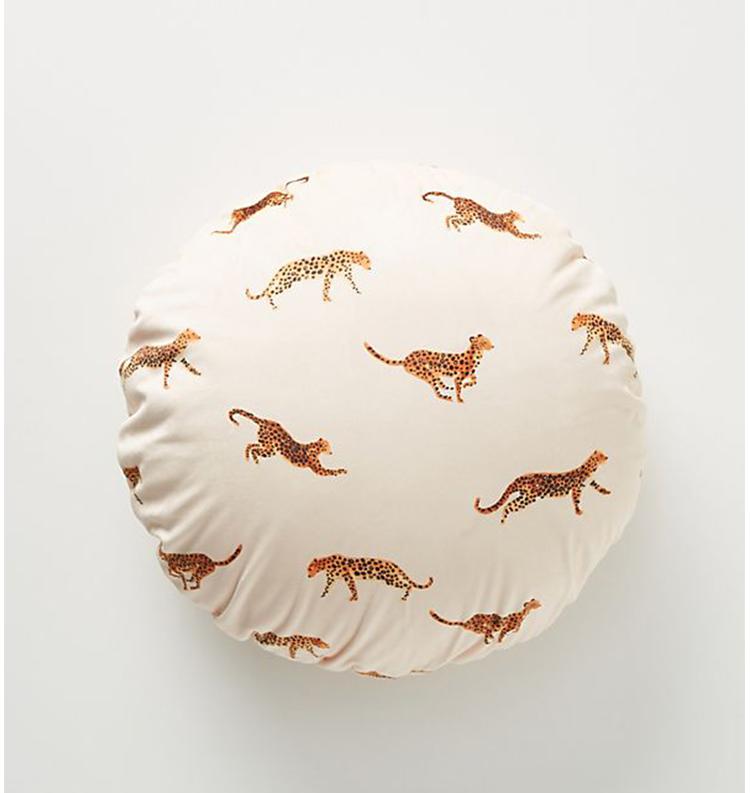 Leopard Velvet Pillow