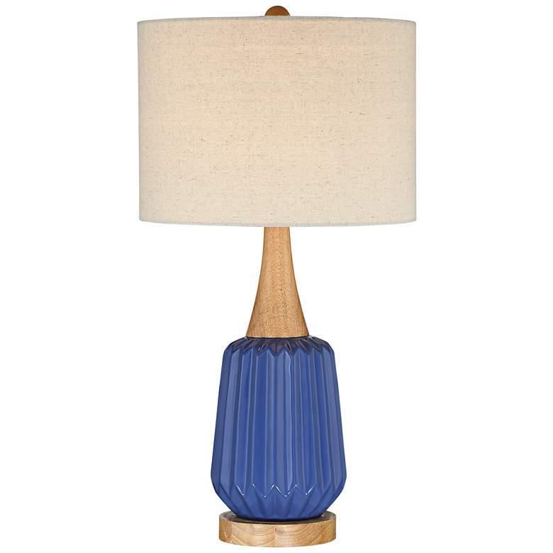 Mid Century Blue Table Lamp