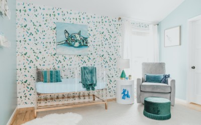 A Modern Boy's Nursery Reveal with Acrylic & Terrazzo