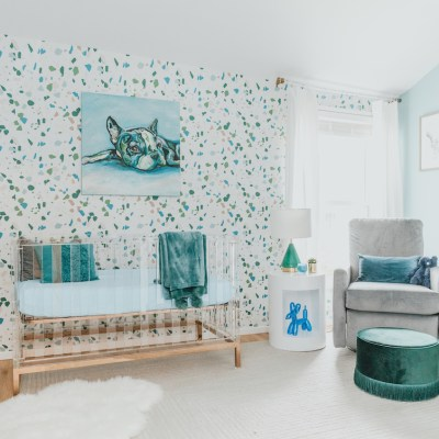 Modern Boy's Nursery Design with Acrylic Crib