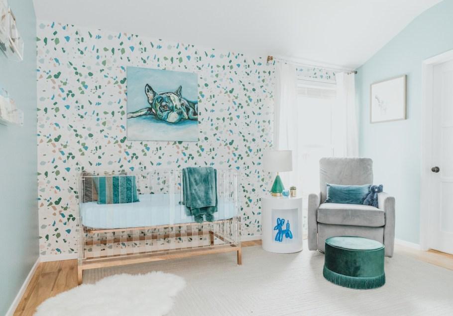 Modern Boy's Nursery Design with Acrylic Crib