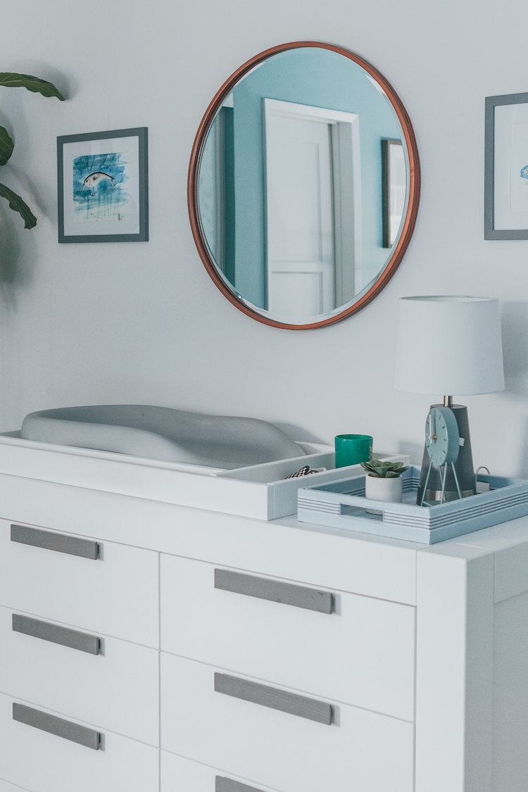 Modern Boy's Nursery Changing Table