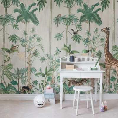 Giraffe Jungle Wall Mural