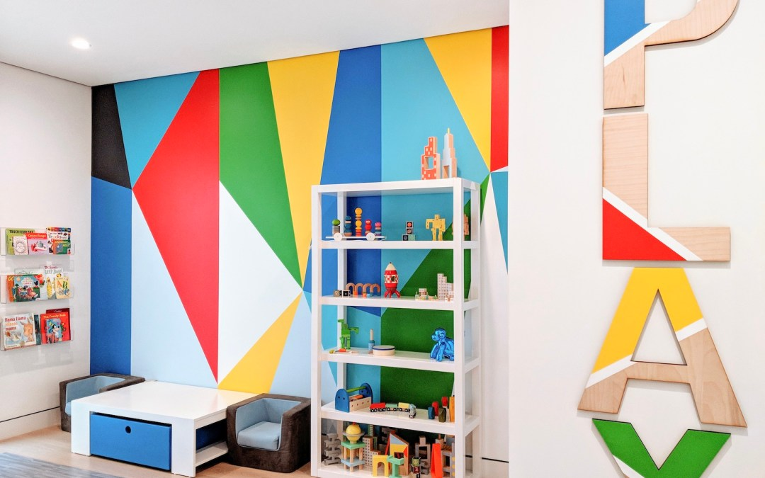 A Super Colorful Modern Playroom Design Reveal