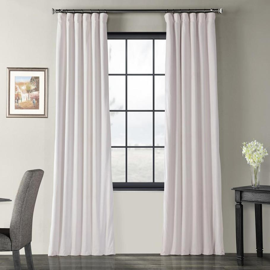 Off White Velvet Blackout Curtains