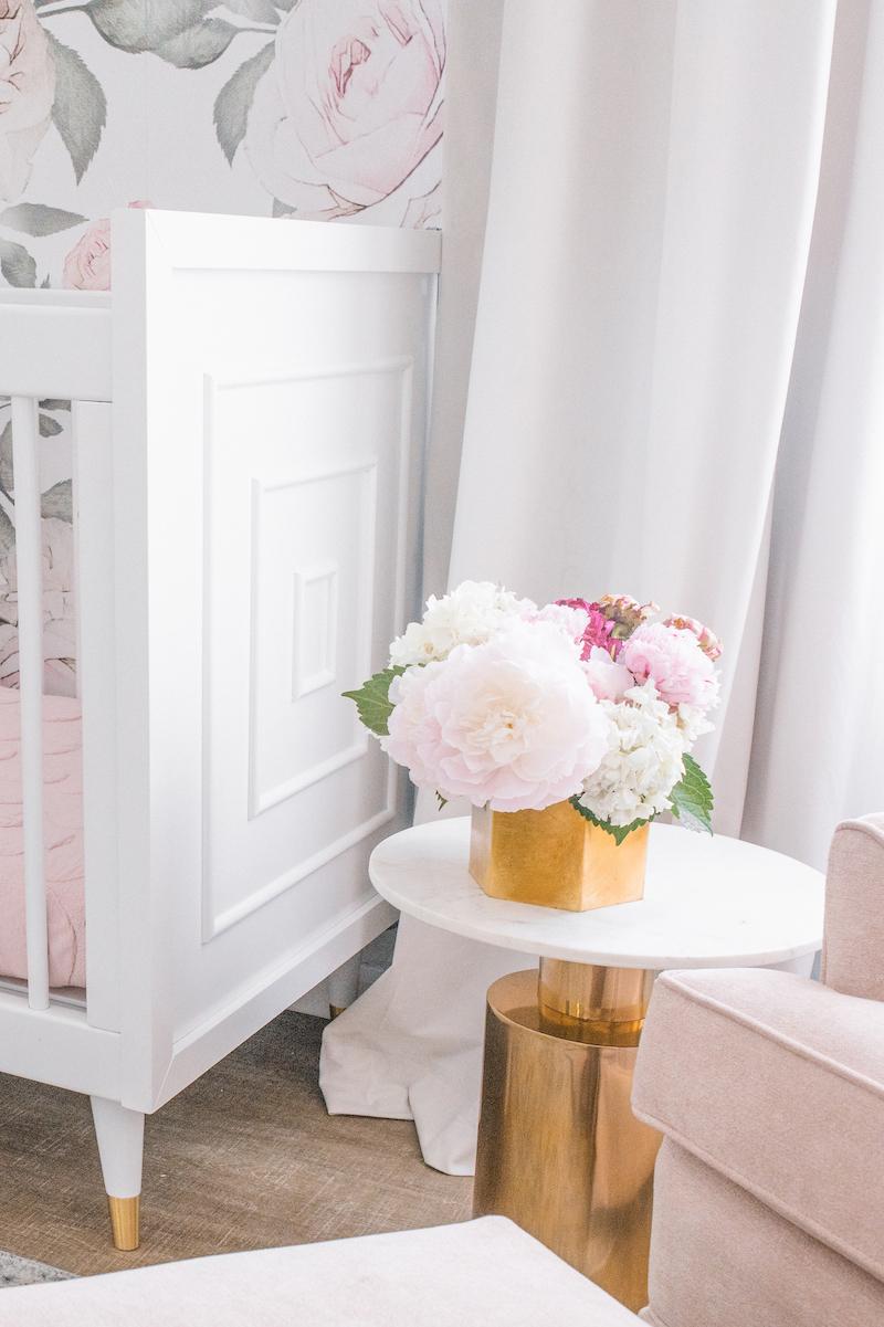Blush floral nursery design