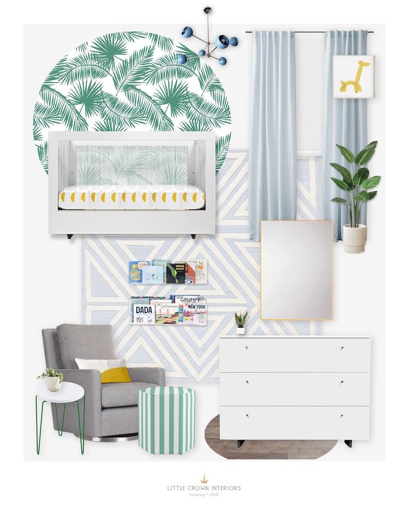 Miami Palm Nursery E-Design by Little Crown Interiors