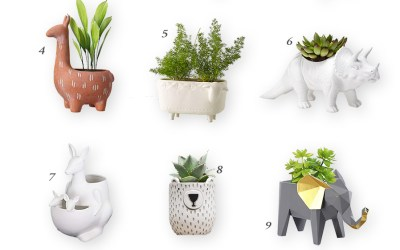 The Cutest Animal Themed Planters and Pots