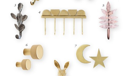 My Favorite Wall Hooks and Knobs for the Nursery