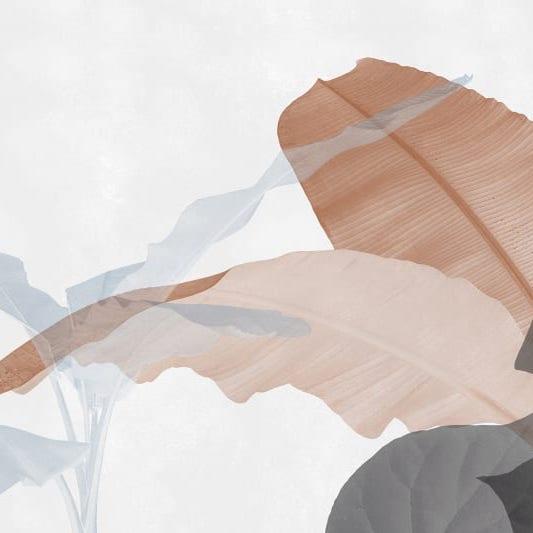 Oversized Neutral Plants leaves Wallpaper
