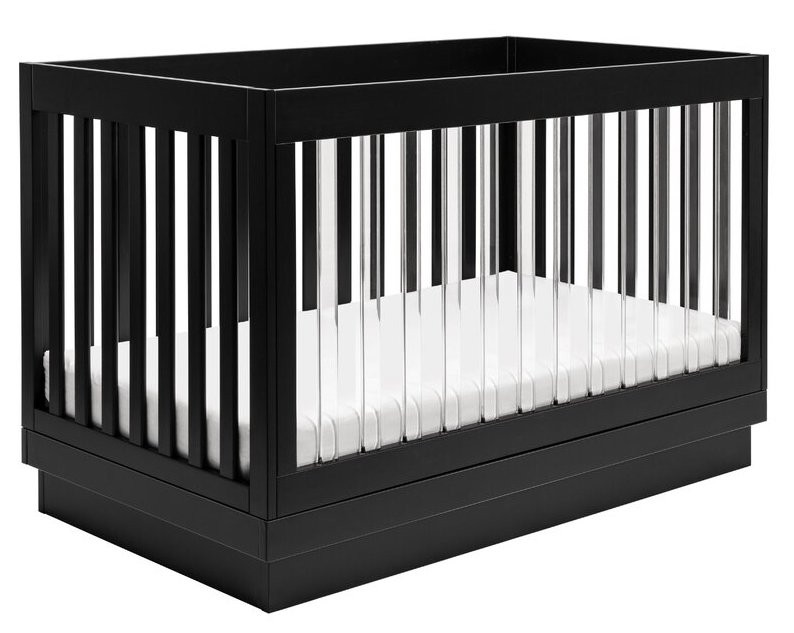 Harlow 3 in 1 Convertible Acrylic Crib