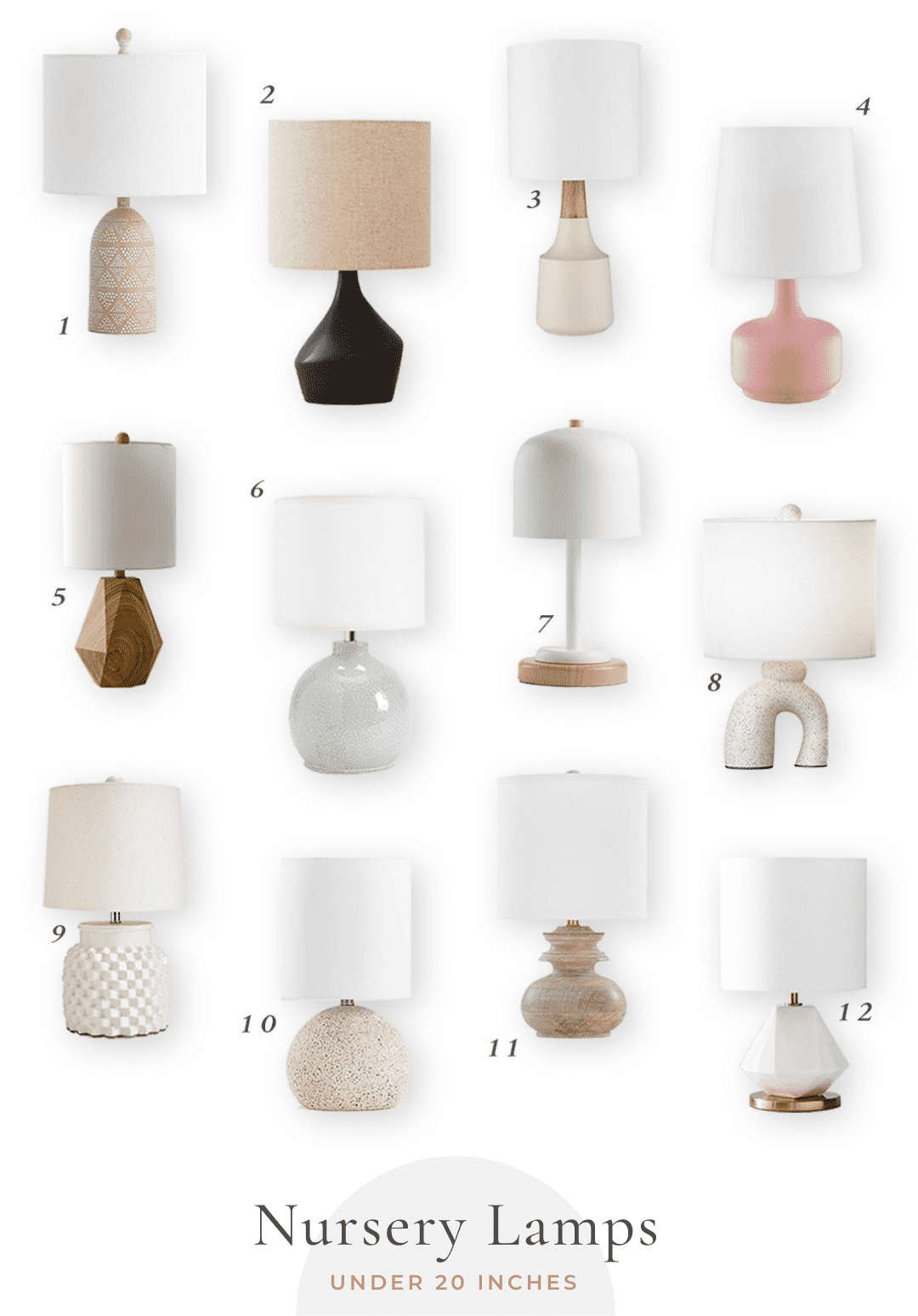Small Nursery Lamps   Little Crown Interiors