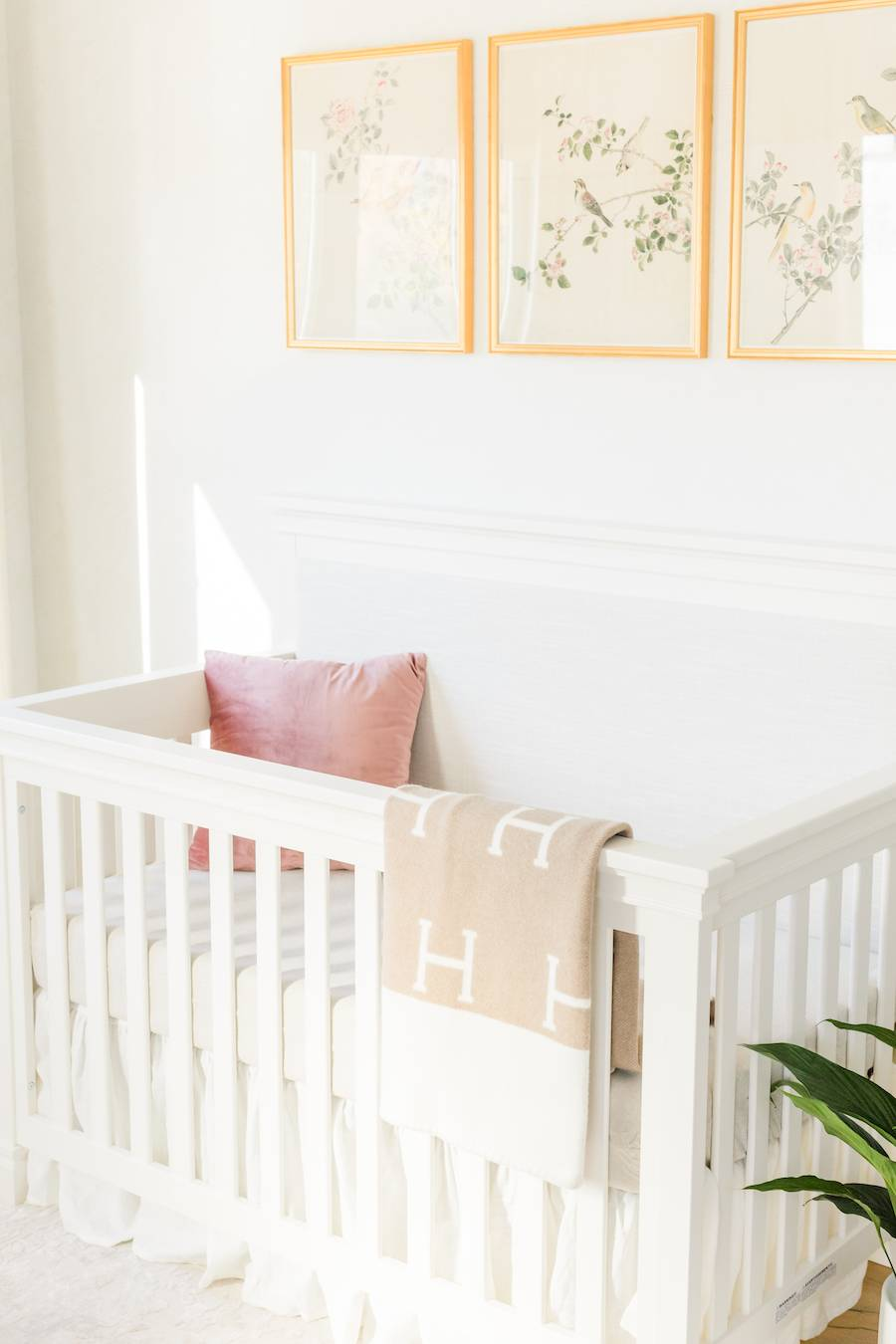 Girl's Neutral Nursery Design by Little Crown Interiors