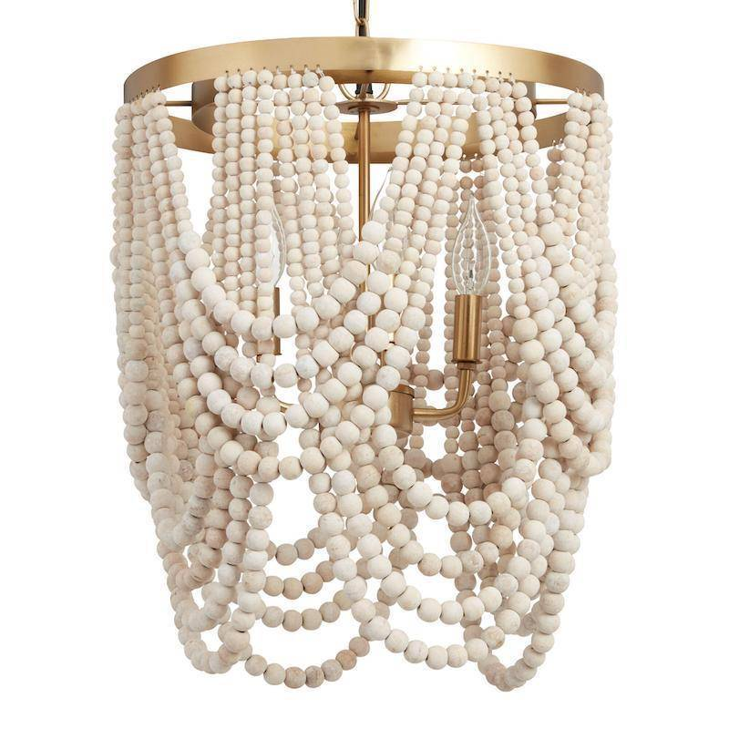 Whitewashed-Wood-Bead-Chandelier-Gold