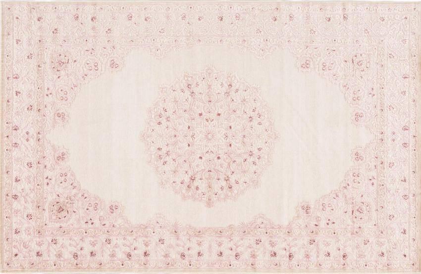 Blush pink rug for nursery