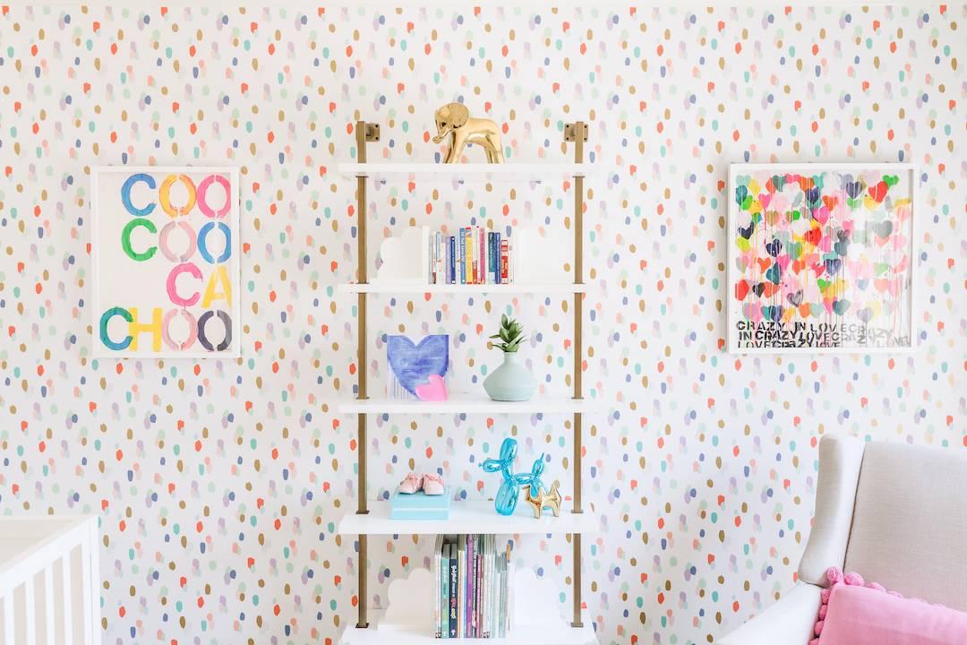 Colorful Nursery Paint Dot Wallpaper