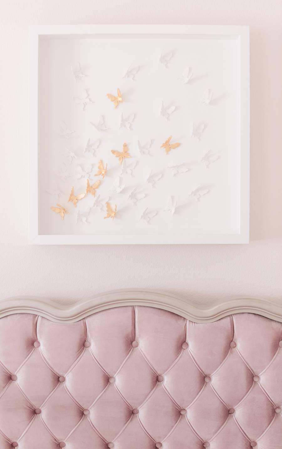 Traditional Nursery with Custom Butterfly Art