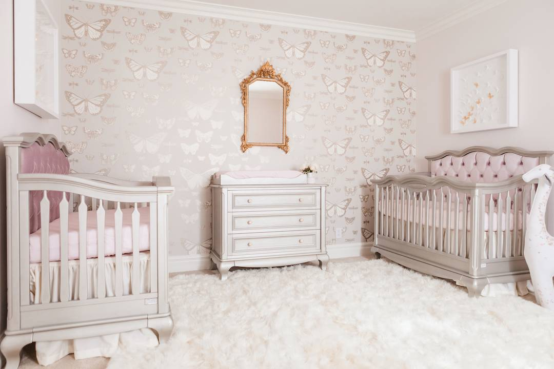 Traditional Butterfly Nursery for Twins