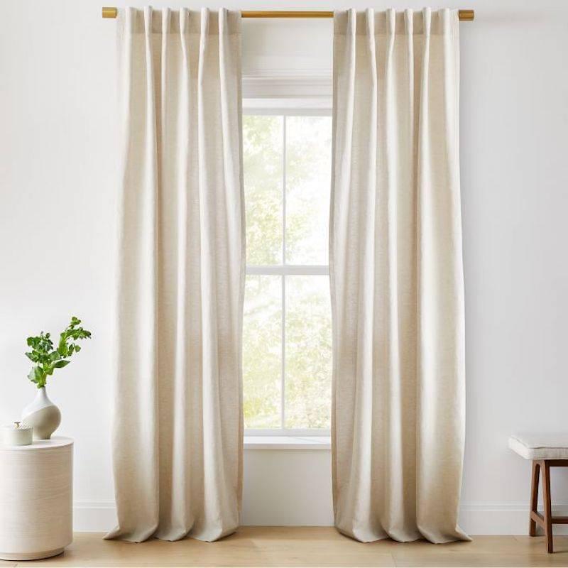 Neutral Linen Blackout Curtains