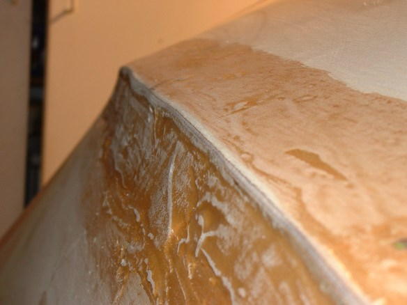 Here we can see the sanded fillet prior to being taped.