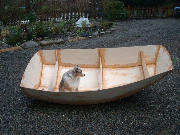Yes, some animals were psychologically harmed in the building of this dinghy