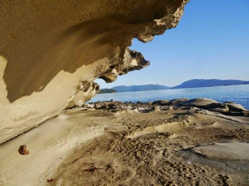 Sandstone formation on Kuper Island.