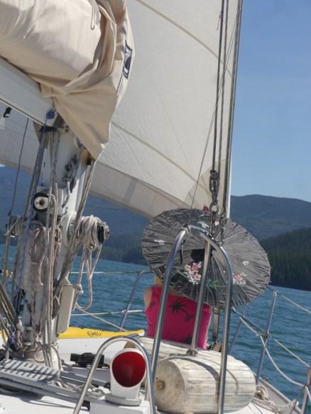 Sailing up Tofino inlet