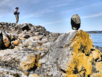 Man Vs. Rock on D'Arcy Island