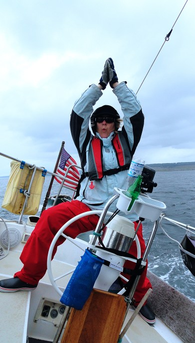 A little 'Boat Yoga' aboard Moonrise. Never got sick even once. Damn that was a fun boat.