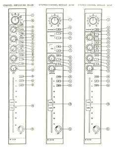Neve 54 Channel Types