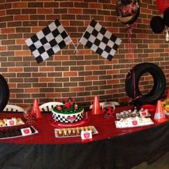 Kitchen Themed Bridal Shower Cheap Furniture Retro Racing Car Printable Party Decorations | Little ...