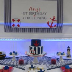 Kitchen Themed Bridal Shower Hansgrohe Faucet Parts Nautical Baptism And 1st Birthday Candy Buffet | Little ...