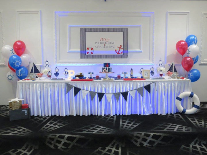 kitchen themed bridal shower facelift nautical baptism and 1st birthday candy buffet | little ...