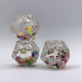 Liquid Snowglobe Dice
