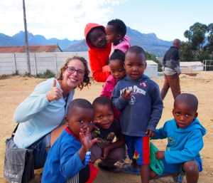 Hanging with the kids in Kayamandi