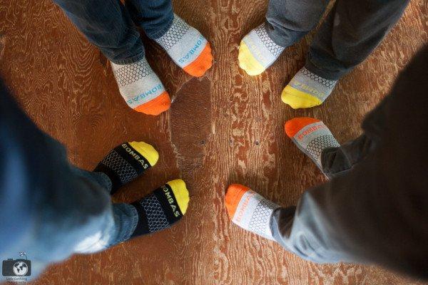 kids in clean socks