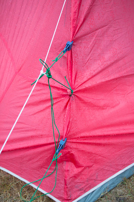 Creative solutions to camping in the rain.