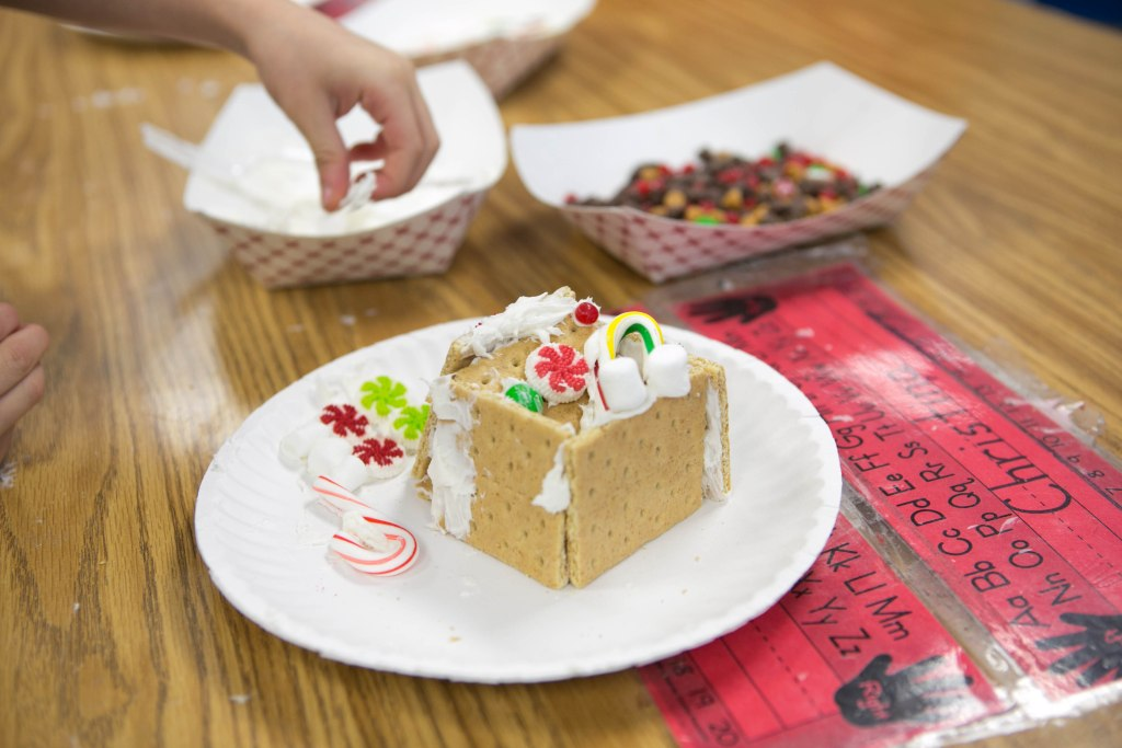 "I need an ""I survived first grade gingerbread house day"" badge."