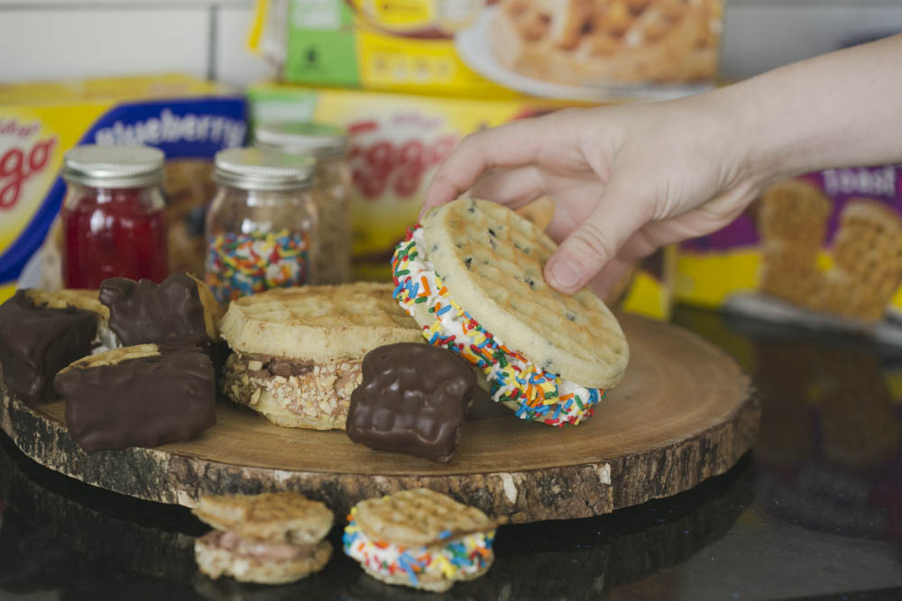 You have to try this waffle ice cream sandwich recipe. It is the BEST!