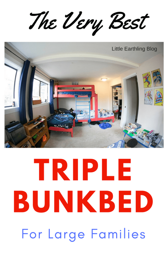 The very best triple bunk bed for large families.