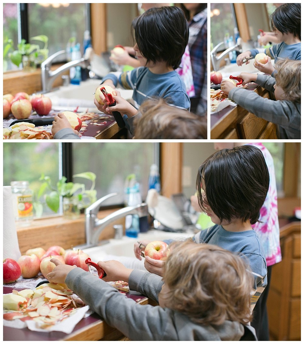 Instant Pot Applesauce is quick and easy and was the focus of our latest PNW homeschool adventure.