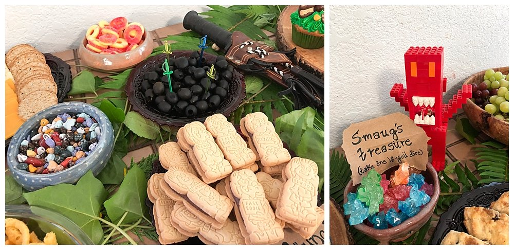 Tea party foods were perfect for our Hobbit Party.
