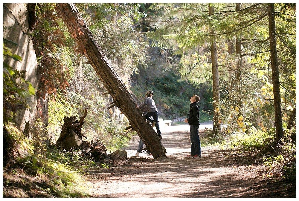 Fall hiking at Lake Whatcom.