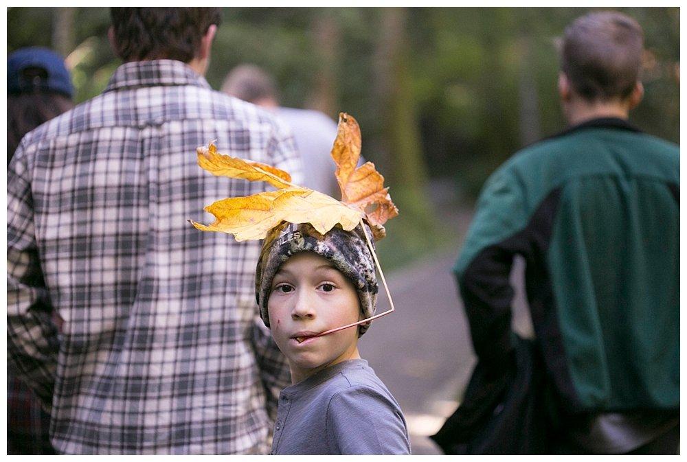 Fall Hiking at Lake Whatcom {Large Family Fun}