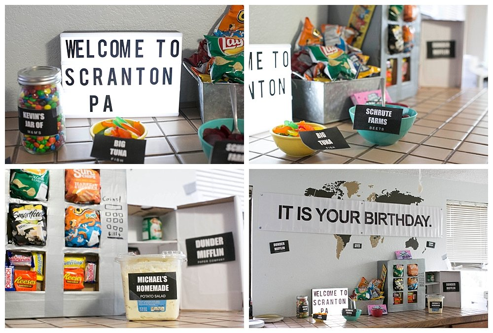 Ideas for The Office themed party.