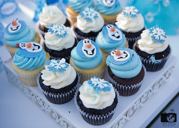 The ultimate Frozen Party, cupcakes