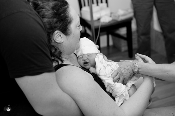 Birth photos by Renee Bergeron of Little Earthling Photography
