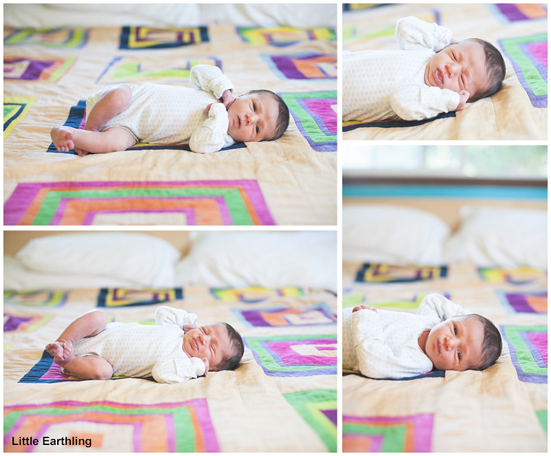 beautiful lifestyle images of newborn baby by little earthling photography
