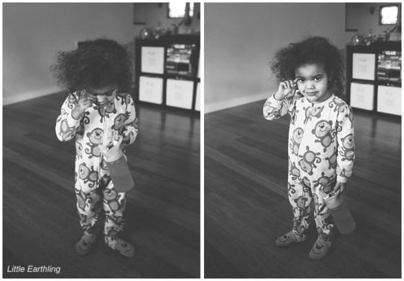 adorable biracial toddler girl